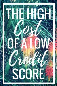 The High Cost of a Low Credit Score