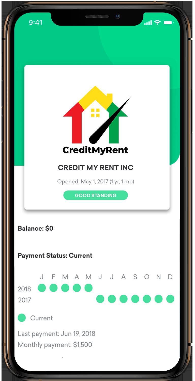 Credit My rent Phone App